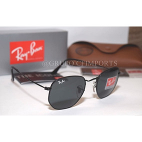Ray-ban Hexagonal 3548 Preto Metal Unissex Verão 2019 - 51mm cee2eaf65b