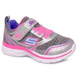 Tênis Infantil Skechers Dream Ndash E-81465n Cinza/rosa
