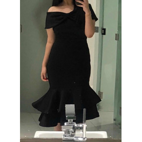 5a112d3875 Vestido Negro Brillante Gala Tipo - Mujer en Ropa - Mercado Libre ...