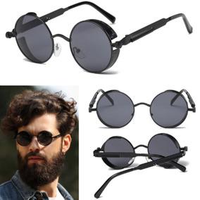 74299230ea855 Óculos De Sol Redondo Gothic Steampunk Retrô Vintage + Case