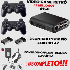 Video Game Retrô 10.000 Jogos 2 Controles S/fio 64gb Premium