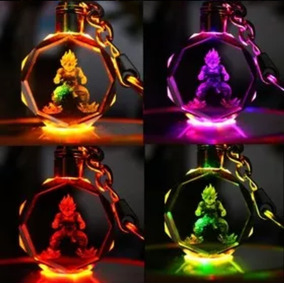Chaveiro Dragon Ball Z Goku Super Saiyajin Led Colorido