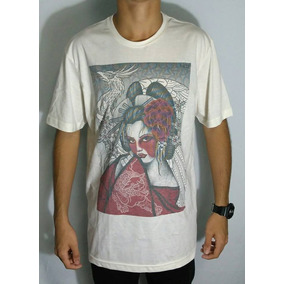 Camiseta Mcd Especial Body Tattoo Manga Curta Bege 52301ee9f50
