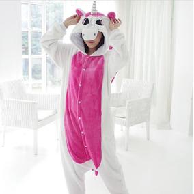 Kigorumi Pijama Adulto Unicornio Fucsia Rosa Negro