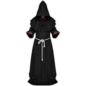 Monje Sacerdote Exorsista Religioso Disfraz Halloween Tunica
