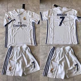 Conjunto Camiseta Y Short Real Madrid 2016 Niño -  7 Ronaldo 61db0d8246aa5