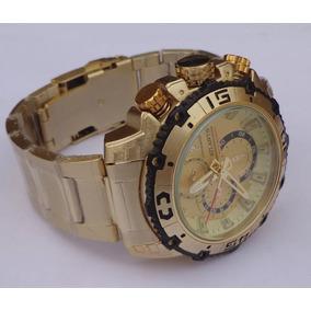 Relógio Masculino Atlantis Dourado Luxo A3270 Pronta Entrega