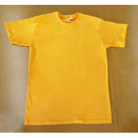 Camiseta Indice Malhas Amarelo Ouro 100% Algodão 30.1