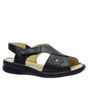 Sandália Feminina Em Couro Café 293m Doctor Shoes