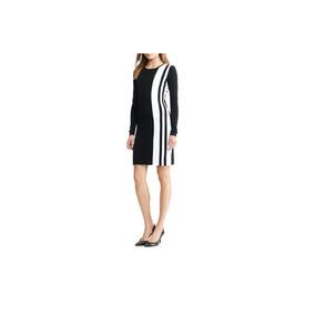 Lauren Ralph Lauren Vestido A Rayas Negro Blanco Tipo Sueter