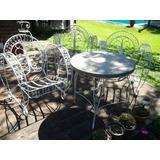 Juego De Jardin Hierro Antiguo Muebles De Jardin En Mercado Libre