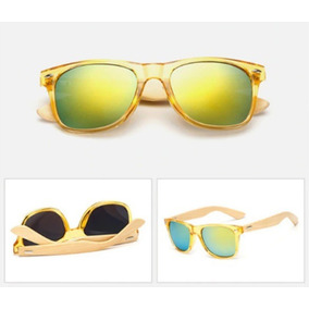 38a46f9856c90 Oculos De Sol Preto Hastes Amarela - Óculos no Mercado Livre Brasil