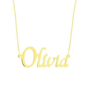 Colar Nome Ouro 18k 6 Letras - Colar no Mercado Livre Brasil 14b49cf8d2