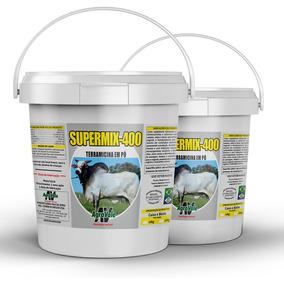 Suplemento Mineral Supermix 400 10kg - Terramicina Em Pó.