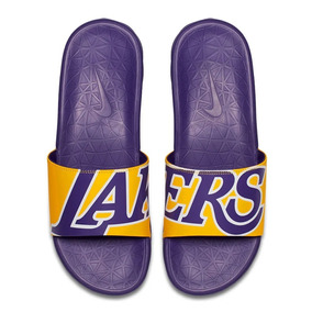 Ojotas Nike Benassi Solarsoft Nba Los Angeles Lakers Lebron