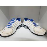 Nike Shox Nz 4 Molas Branco E Azul. Original E Super Novo.