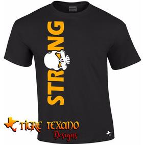 Playera Crossfit Strong Skull Gym By Tigre Texano Designs