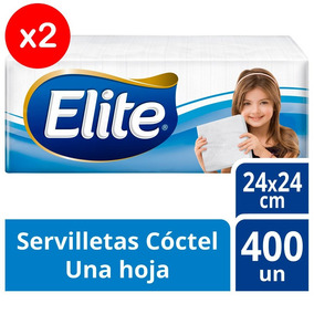 Servilleta Elite Coctel 24x24cm Para Coctel Pack X2
