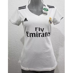 Nuevo Jersey Playera Real Madrid De Muje Dama Blanco Local c0cba5ba424de