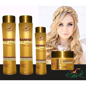 5 Kit Capilar Bel Kit- Banho De Verniz - Com 4 Produtos