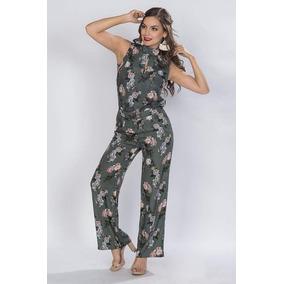 Pantalon Dama Flores Moda Ancho Flojo Grande
