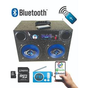 Caixa De Som Amplificada Portátil Bluetooth Usb Sd Aux. 200w