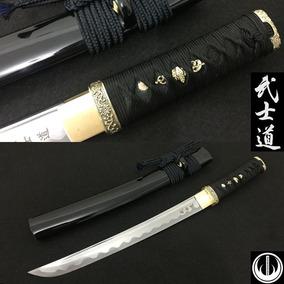 Tanto Samurai Faca Punhal Espada Katana Curta Aço Dobrado