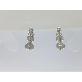 Aretes Violin Plata Ley .925