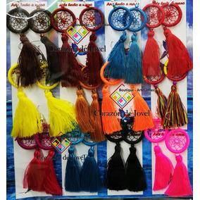 6 Paquetes De Aretes Artesanales/típicos De Chiapas! 72 Pzas