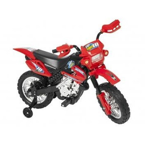 Moto Elétrica Infantil Cross Homeplay Rally Trilha Vermelha