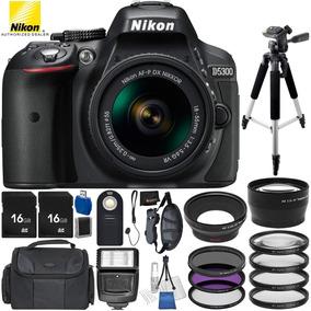 Cámara Nikon D5300 Paquete Con Lente 18-55 Mm Y Accesorios