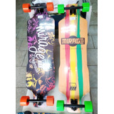 Skate Longboard Tatto Completo Top Envio Ja Frete Gratis