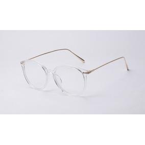 Óculos De Armação Transparente Vintage Haste Branca - Óculos no ... d0d15e4189