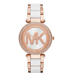 Reloj Michael Kors Mk6365 Parker Rose Gold And White Watch