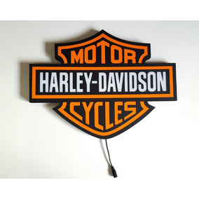 Placa Harley Davidson Luminoso Led Bar Quadro