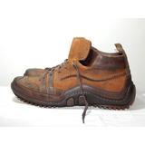 Sapato Bota Casual Cns Couro Marrom Tam: 40