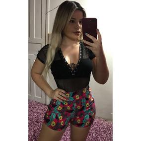 Kit 3 Peças Macaquinho Vestido Conjunto Lindo Moda Feminina