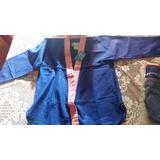 Kimono Jiu-jitsu Judo Infantil Azul E Rosa Novo