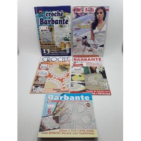 Revista Kit Com 5 Unidades Crochê Em Barbante E Linha