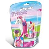 Princesa Rosa Con Caballo Playmob Pm6166 R4369