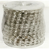 Strass En Rollo X Metro Base Plata #18 X 10 Yardas (9,14 Mt)