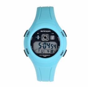 Reloj Quarzo Digital Sanda 331 Unisex Azul