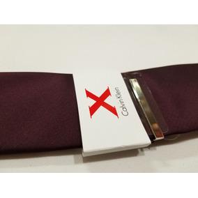 Calvin Klein X Corbata Morado Liso Elegante Hombre Original