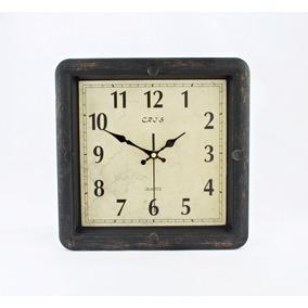 c5c4e45223b Relogio Parede Retro Vintage Quadrado - Relógios no Mercado Livre Brasil