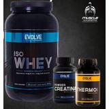Kit Definição Muscular Iso Whey+thermo60cps+creatina100g
