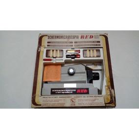 Microscopio Proyector Para Niños Italiano Juego Vintage