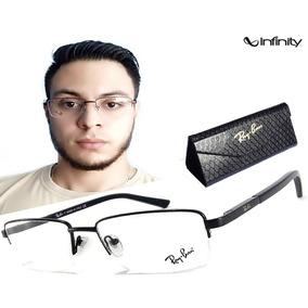 1176f1c65ec56 Armação Oculos Grau Titânio S  Aro R9122 Original Promoção. São Paulo ·  Oculos De Grau Masculino Armação Ls240 Meio Aro Original. R  135