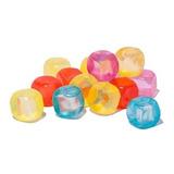 Hielos Plásticos Cubitos Reutilizables X 100 Uds Colores !!