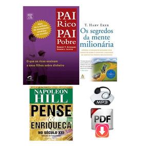 Pai Rico, Pai Pobre Audiolivro + Livros Brindes De Sucesso