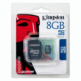 Tarjeta De Memoria Micro Sd Kingston 8gb Con Adaptador Sd